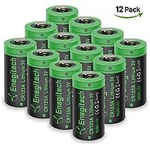 Batteriol CR123A Pilas de Litio Lithium Batería 3V 1600mAh No Recargable para Linterna, Cámara, Fotográficas, Juguetes Alejados, Cámara Arlo VMS3230 (versión antigua)Pack de 12