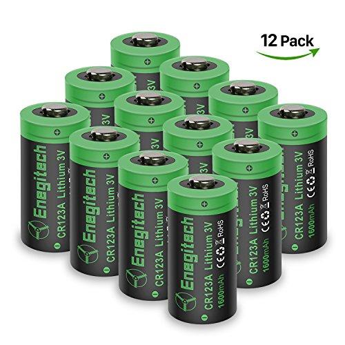 Batteriol CR123A Lithium Batterie Akku 3V 1600mAh Fotobatterie Nicht Wiederaufladbare für Taschenlampe, Kamera, Camcorder, Spielzeug Fernbedienung, Arlo Kamera VMS3230 (alte Version) 12-er Pack