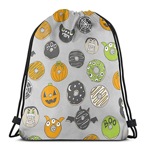 l Autumn Food Cute Spooky Scar 3D Print Drawstring Backpack Rucksack Shoulder Bags Gym Bag 17 X 14 Inch ()