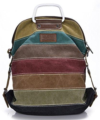 ERGEOB Markenhandtaschen Großhandel Frauen Multifunktions Schulter Tasche Rucksackhandtaschen bunt