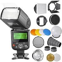 Neewer® PRO NW670 E-TTL Foto Flash Kit per CANON Rebel T5i T4i T3i T3 T2i T1i XSi XTi SL1, EOS 700D 650D 600D 1100D 550D 500D 450D 400D 100D 300D 60D 70D DSLR, Canon EOS M Fotocamere Compatte, Inclusi: (1) NW670 ETTL Flash per Canon + Kit di Accessori per Speedlite Flash con Barndoor, Snoot, Honeycomb, Riflettore Standard, Diffusore a Sfera, Color Gel (Arancione, Blu, Bianco, Giallo), Softbox, Adattatore di Montaggio Universale