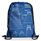 style3 Dalek Blaupause Rucksack Tasche Turnbeutel Sport Jute Beutel who time police doctor box space dr tv