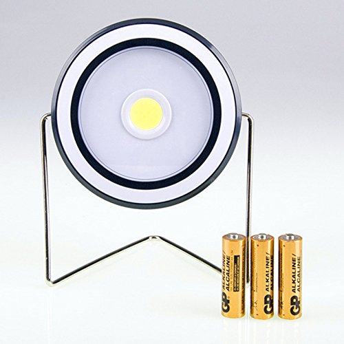 Dsstyle Multifunktions COB LED Camping Lampe Notlicht Grilllampe für Outdoor Aktivitäten Round (Without Battery)