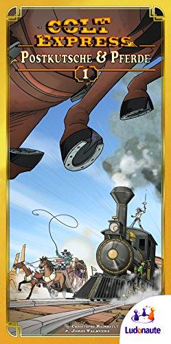 Ludonaute 217672 - Colt Express Postkutsche und Pferde