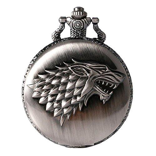 Juego de Tronos Casa Stark cresta envejecido cepillado plata efecto Re