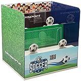 Ultrasport Softair Schießstand elektronisch – Schieß-Anlage mit 3 elektronischen Schieß-Modi – Schießstand Zielscheibe max. 0,5 Joule, für Softair, Schießstand in 2 Designs erhältlich, auch für Kinder, Soccer-Edition
