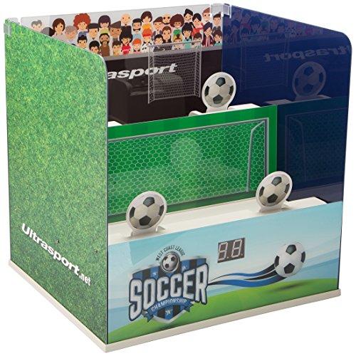 Ultrasport Tiro a segno per Softair elettronico – apparecchiatura da sparo con 3 modalità di sparo elettroniche – bersaglio per tiro a segno max. 0,5 Joule, Soccer-Edition