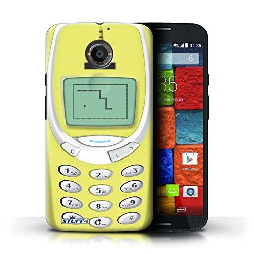 Kobalt® Imprimé Etui / Coque pour Motorola Moto X (2014) / Nokia 8210 noir conception / Série Portables rétro Nokia 3310 jaune