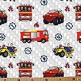 Jersey Stoffe Feuerwehrmann Sam Jupiter 0,50m x VB