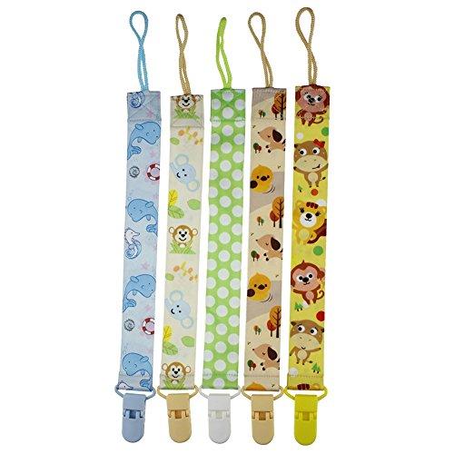 Blaward Kids Chupete Clips chupete Set para niñas dentición Boys Toys Multipack con estampados de animales 5pcs
