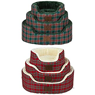 Bunty Heritage Tartan Soft Fur Fleece Dog Bed Washable Pet Basket Mat Cushion Bunty Heritage Tartan Soft Fur Fleece Dog Bed Washable Pet Basket Mat Cushion 51KdAuVuXRL