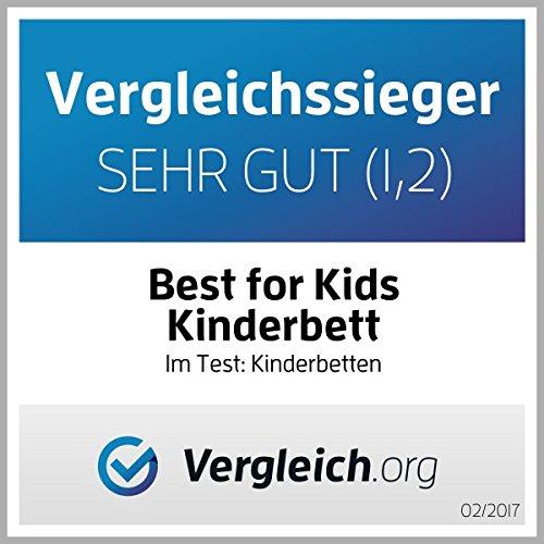 Best For Kids KINDERBETT 90x200 weiß mit Schaummatratze mit TÜV ZERTIFIZIERT 90x200 cm - 5