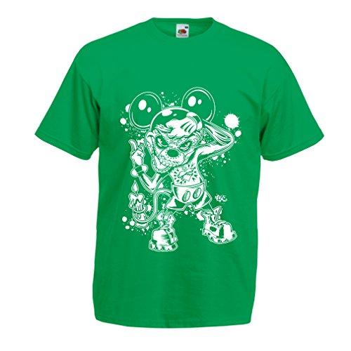 hirt Eine Maus mit Einem tollen Halloween-Party-Kostüm (X-Large Grün Mehrfarben) ()
