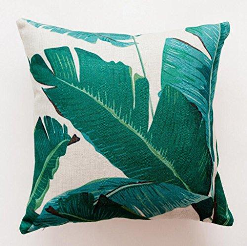 Longless lenzuola di cotone foglie della foresta pluviale cactus timbro divano cuscini cuscino cuscino per auto