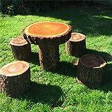 Cheeky Chicks Rústico Madera Maciza de los niños Woodland Mesa y taburetes Set