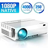 ABOX 4000 Lumen Beamer, Native 1080p (1920 x 1080) LED Videoprojektor...