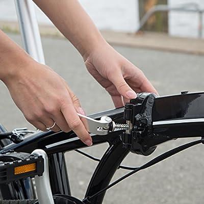 Ultrasport Falt-Fahrrad 20 Zoll, Alu Klapprad 7-Gang, Shimano-Handschaltung Revoshift 7 Speed mit Drehgriff, Alu Lenker & Sattelstütze, werkzeugfreie Montage, zusammenklappbar, unisex
