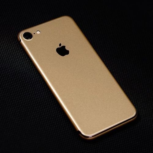GADGETS WRAP Limited Series Apple iPhone 7 Golden Matte Skin for Back