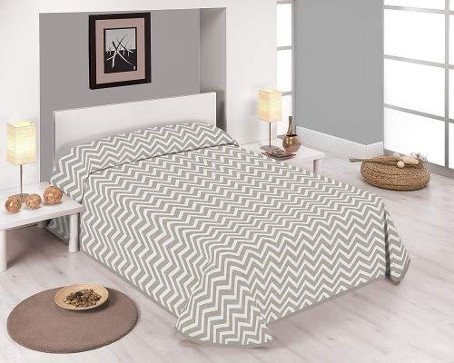 SABANALIA Cairo Couvre-lit en Coton et Polyester Cama 200-300 x 280 Beige