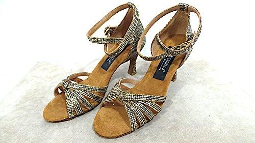Chaussures De Danse Charles Chaussures De Danse Femme Cuir Talon 70 Cod.400 Col.lady Noir Platine Fabriqué En Italie Voir Photo
