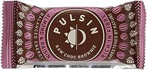 Pulsin' Raw Choc Brownie - Almond & Raisin 18 x 50g bars   Gluten Free   Dairy Free   Soya Free   Vegan