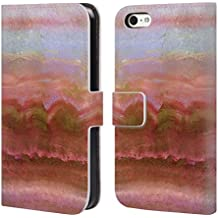 Official Monika Strigel Coral Agate Gemstone Leather Book Wallet Case Cover For Apple iPhone 5c