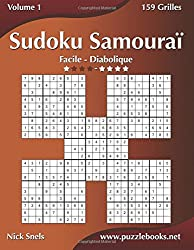 Sudoku Samouraï - Facile à Diabolique - Volume 1 - 159 Grilles