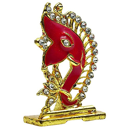 Ganesha Geschenk Metalldekor Auto-Armaturenbrett Ganesh Statue Dekorative Büro-Tabelle