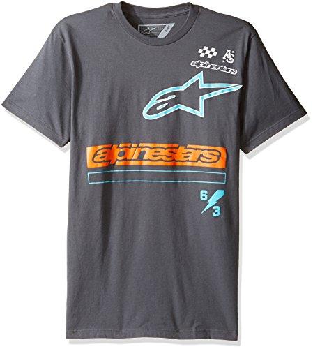 Alpinestars Herren T-Shirt Axiom Motorsports Modern Fit Short Sleeve Grau