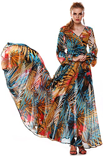 ACEVOG-Maxi-Vestido-Floral-de-Boho-de-Cctel-Fiesta-y-Playa-para-Mujer