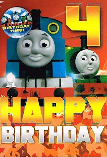 Thomas die Lokomotive, Geburtstagskarte für 4-jährige und Abzeichen