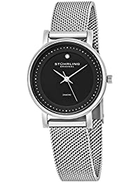 Stuhrling Original Women's Quartz Watch with Black Dial Analogue Display and Silver Stainless Steel Bracelet 734LM.02
