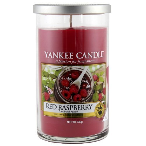 """Yankee Candle Yankee candle """"red raspberry"""" stumpenkerze rot mittel"""