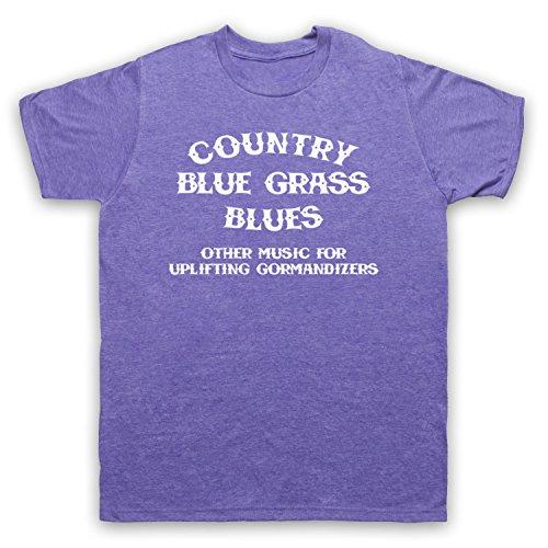 Inspiriert durch CBGB OMFUG Country Blue Grass Blues Logo Unofficial Herren T-Shirt Jahrgang Violett