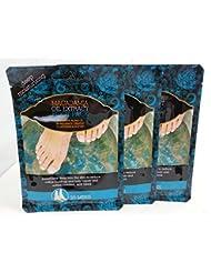 Offre Lot de 3x Profondeur Extrait d'huile de noix de macadamia hydratante pieds de chaussettes pour traitement hydratant profond