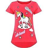 BEZLIT Mädchen T-Shirt Einhorn Motiv Druck und Glitzer 21901, Farbe:Pink, Größe:152