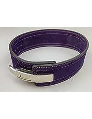 Cinturón con hebilla de levantamiento de peso, 10mm , violeta, small