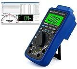 HoldPeak HP-90K Digital Multimeter CAT IV mit USB, Software, Automotive Funktionen, Beleuchtung, Voltmeter, Messkabel, Grau Blau