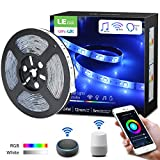 LE LED Strip 5M, Alexa LED Streifen RGB und Weiß, Musik Smart LED Leiste, [nur 2.4GHz] WiFi LED Band Lichterkette für Haus, Küche, Party, TV, Lichtband Kompatibel mit Alexa, Google Home