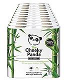 The Cheeky Panda - Rotolo di carta igienica in 100% bambù; soffice e delicata sulla pelle, super assorbente, senza prodotti chimici irritanti