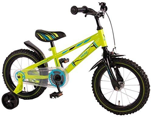 14 Zoll Fahrrad mit Rücktritt und Stützräder Kinderfahrrad Jungen Grün 71434