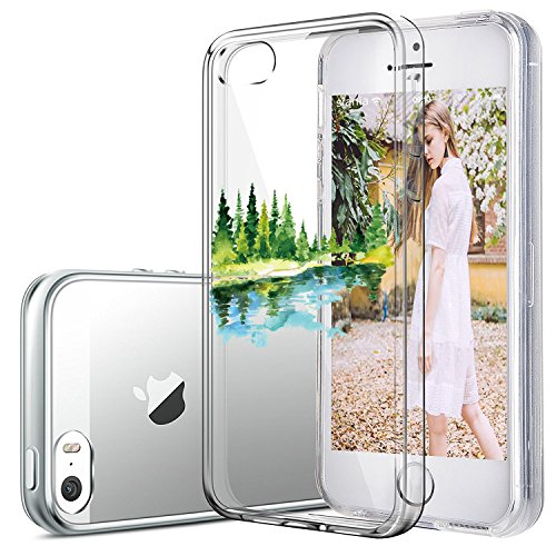 Coque iPhone 5/5S/SE,Vanki® Chats et l'afflux d'hommes Housse Transparente , Housse TPU Souple Etui de Protection Silicone Case Soft Gel Cover Anti Rayure Anti Choc pour Iphone5/5S/SE 13