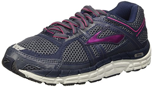Brooks Addiction 12, Chaussures de Running Entrainement Femme Multicolore - Ombre Blue/Obsidian/Fuchsia Purple