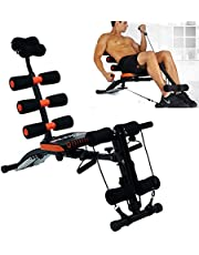 Aysis 6 in 1 Home Gym Abdominal Machine Six Pack Care Ab Rocket Core Exercise Bench with 22 Different Modes for Exercise and Fitness (Exercise Equipment for Home)(6 Pack Machine Body)