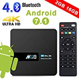 Android TV Box - Rarazu Smart TV Box Android 7.1 Aggiorna Chip Amlogic S905X Quad-Core 64 bit, 2GB DDR/16GB eMMC, Scatola TV Intelligente 4K / WiFi / Bluetooth