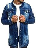 OZONEE Mix Herren Hoodie Funktionsjacke Casual Zip Sportswear Modern Jeansjacke Übergangsjacke Jacke Denim Sweats Sweatjacke Frühlingsjacke Jeans Jacke Otantik 474K DUNKELBLAU M