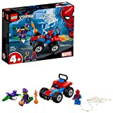 LEGO 76133 Super Heroes Spider-Man Car Chase Set, Toy Car Spider-Man and Green Goblin figures, Marve