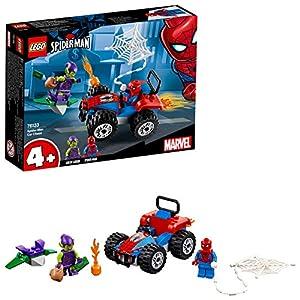 LEGO Super Heroes - Inseguimento in Auto di Spider-Man, 76133 LEGO Juniors LEGO