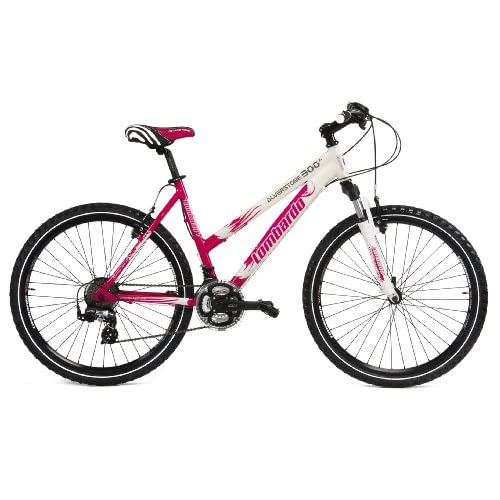 51KdOl4jB5L. SS500  - Lombardo Alverstone 300 Ladies Lightweight Performance Bike - White/Cerise, 19 Inch