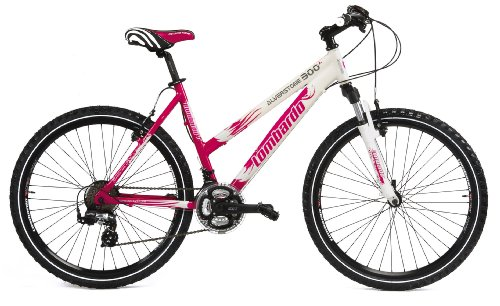 51KdOl4jB5L - Lombardo Alverstone 300 Ladies Lightweight Performance Bike - White/Cerise, 19 Inch